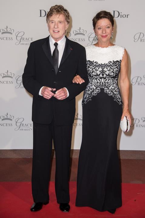 Robert Redford e la moglie Sibylle Szaggars ai Princess Grace Awards