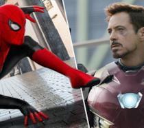 Spider-Man (a sinistra) e Iron Man (a destra)