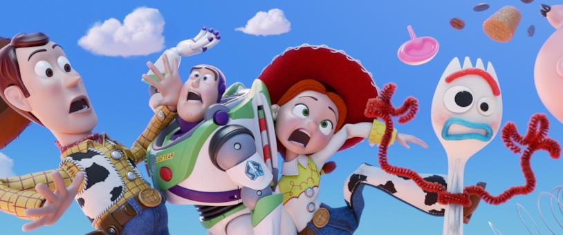 Forky e i protagonisti di Toy Story 4