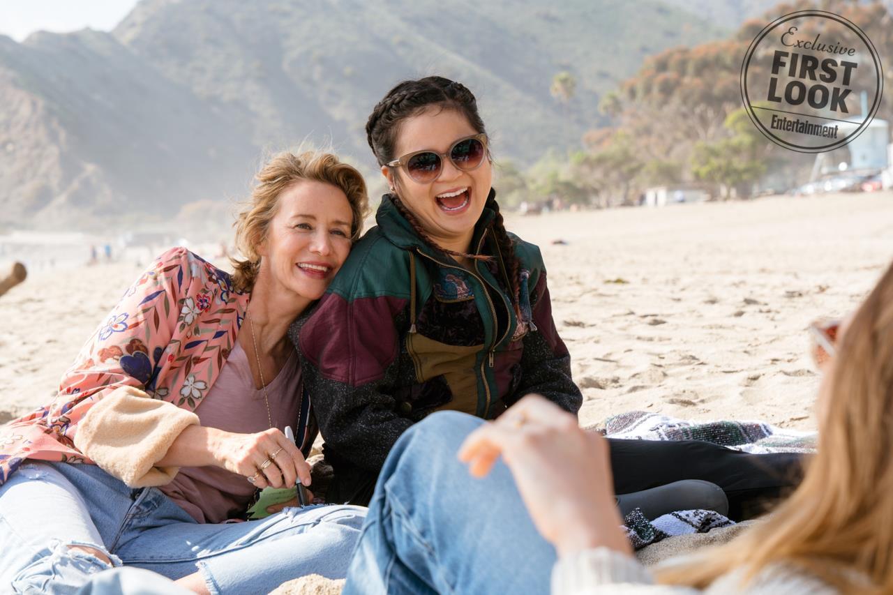 Amy e Jules ridono al mare