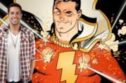 L'attore Zachary Levi e il supereroe Shazam