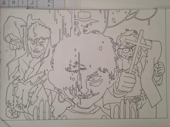 Il bozzetto di Ratigher per il Murales al Napoli Comicon