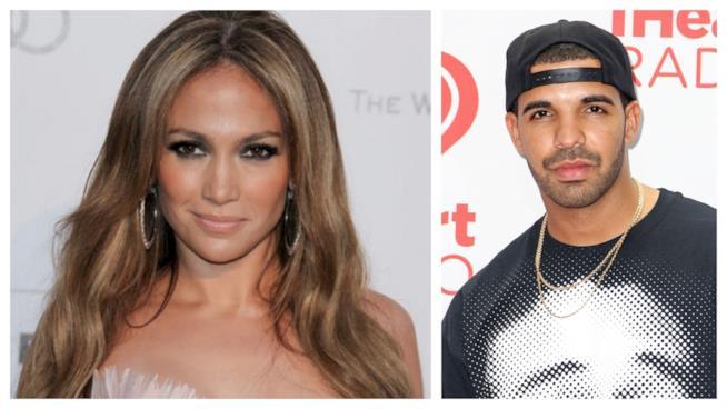 Primo piano di Jennifer Lopez e Drake