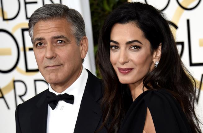 George Clooney e Amal, un primo piano della coppia