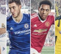 I 4 ambasciatori di FIFA 17 in azione sul campo
