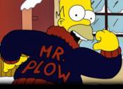 Homer nelle vesti di Mr. Spazzaneve