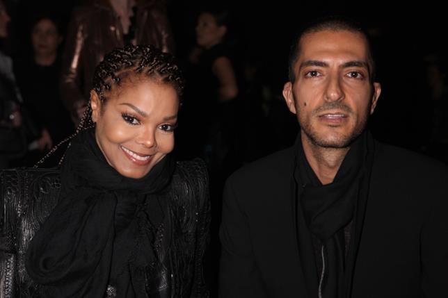 Wissam Al Mana e Janet Jackson fotografati durante una sfilata