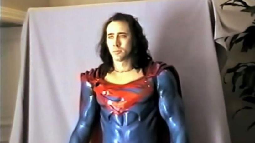 ll test in costume di Nicolas Cage per Superman Lives
