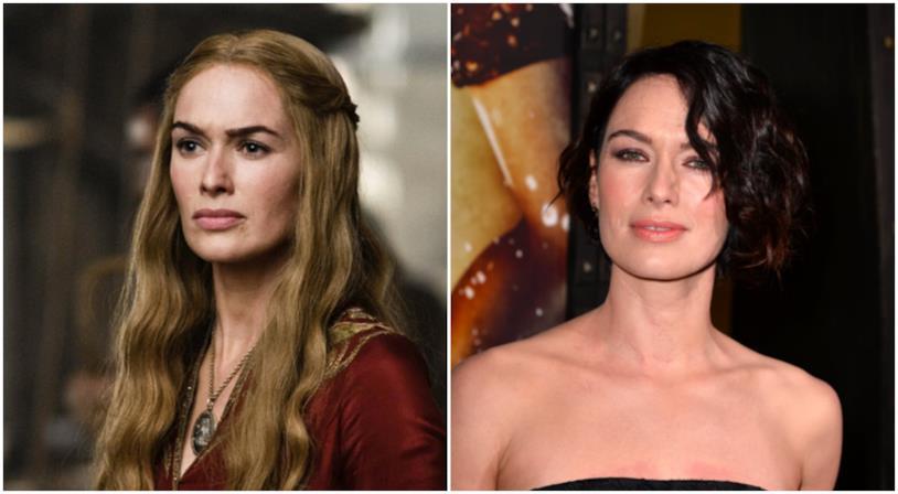 Un collage tra Cersei Lannister e Lena Headey