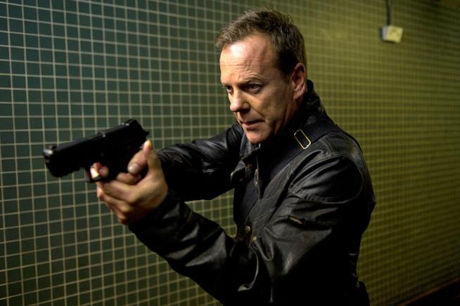 24, l'attore Kiefer Sutherland nei panni di Jack Bauer