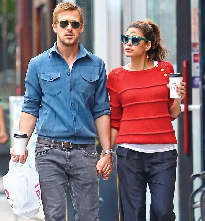 Uno scatto rubato di Ryan Gosling e Eva Mendes