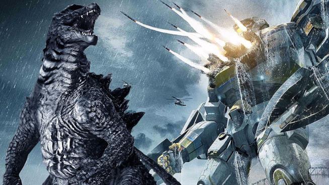 Godzilla e uno degli Jaeger di Pacific Rim
