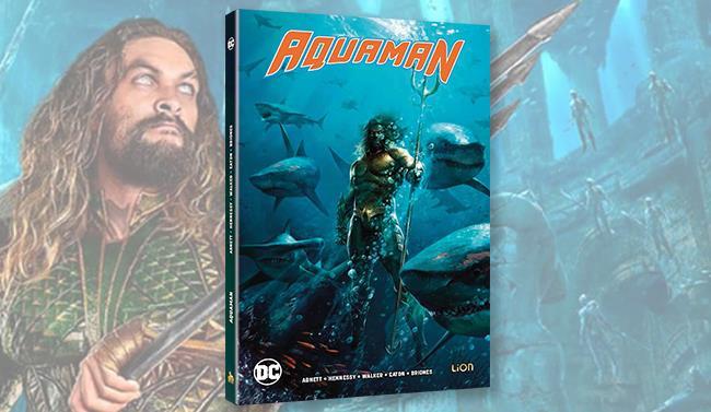 Packshot di Aquaman in edizione Blu-ray + Comicbook