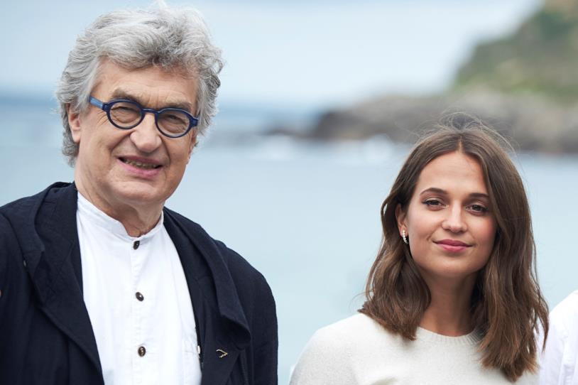L'attrice Alicia Vikander e il regista Wim Wenders