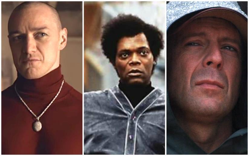 Bruce Willis, James McAvoy e Samuel L. Jackson