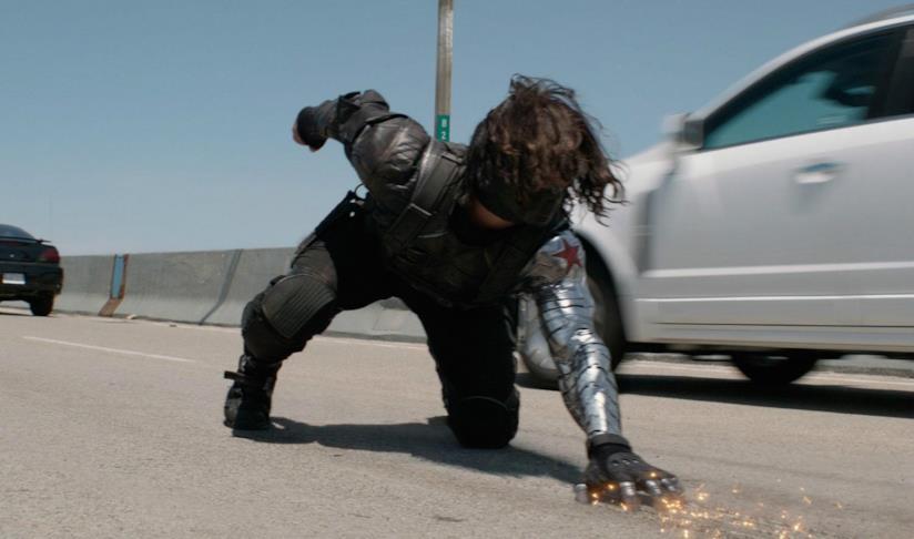 Il soldato d'Inverno di Sebastian Stan in una scena del film