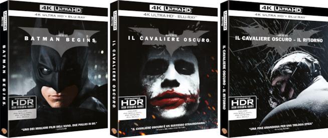 La trilogia de Il Cavaliere Oscuro in 4K Ultra HD