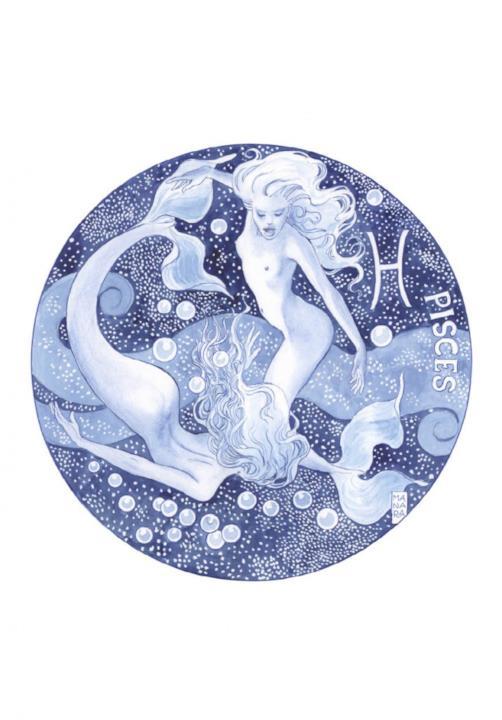 Il segno dei Pesci disegnato da Manara