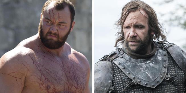 La Montagna e il Mastino da Game of Thrones