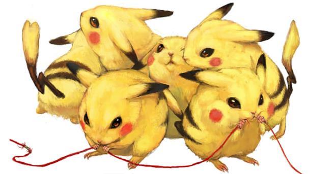 Un gruppo di Pikachu realistici