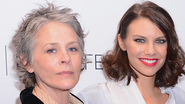 Lauren Cohan e Melissa McBride a un evento ufficiale