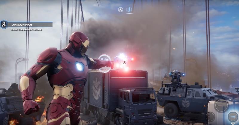 Iron Man in un'immagine di gioco da Marvel's Avengers