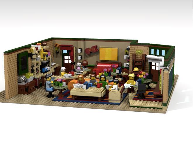 Il Central Perk ricreato completamente con i Lego