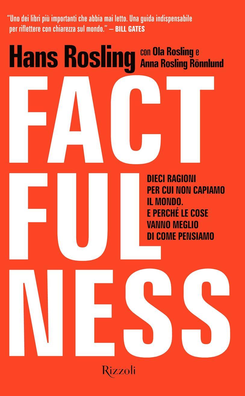 Copertina rossa per Factfulness