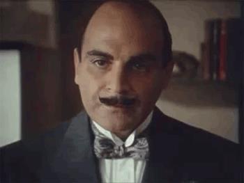 Baffi David Suchet nel ruolo di Poirot