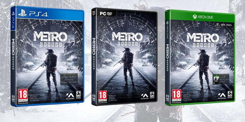 Le boxart di Metro Exodus nelle diverse edizioni