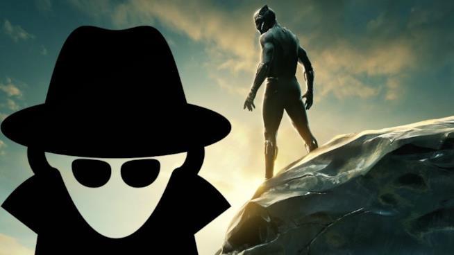 Un misterioso uomo in impermeabile e Black Panther