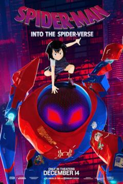 Peni Parker e la SP//dr suit nel poster di Spider-Man: Un nuovo universo dedicato al suo personaggio