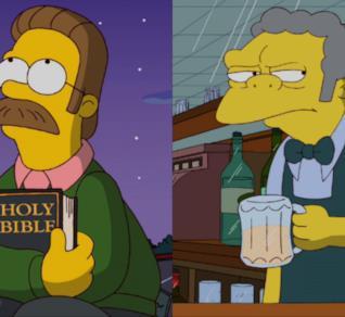 MyAnimation: Ned Flanders VS Boe Szyslak