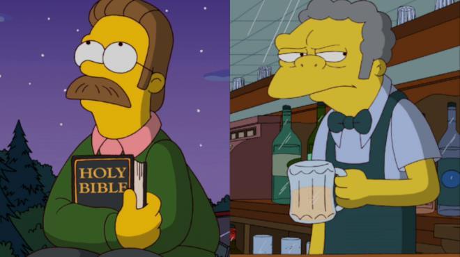 #MyAnimation: Boe e Ned Flanders dei Simpson in sfida. Chi vincerà?