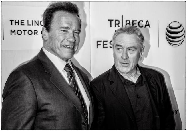Robert De Niro e Arnold Schwarzenegger in una delle ultime apparizioni insieme