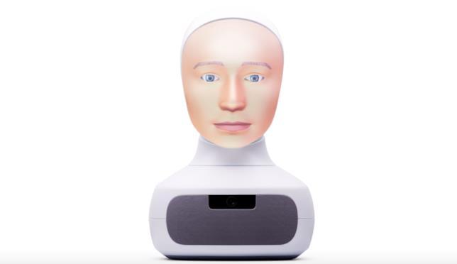 Un'immagine di Furhat, il robot che dà un volto all'intelligenza artificiale