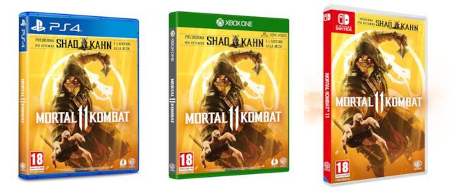 Le edizioni italiane di Mortal Komabt 11