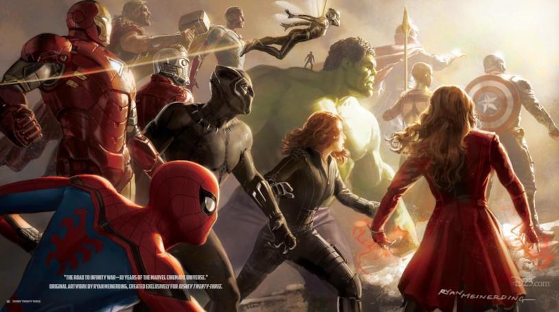 14 Avengers nel poster del D-23