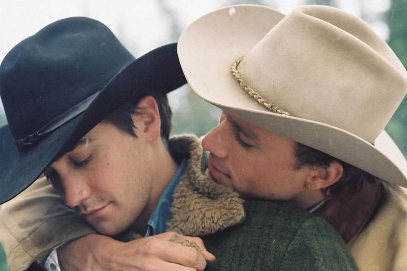 Un frame del film Brokeback Mountain