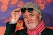 Un primo piano del regista Pedro Almodóvar a Cannes 2019