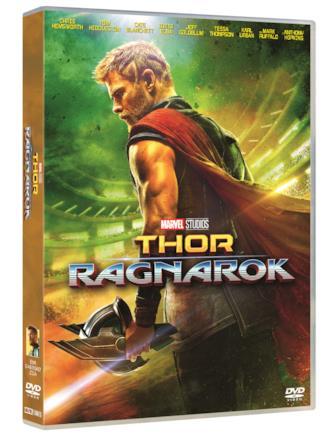 La cover dell'edizione DVD di Thor: Ragnarok