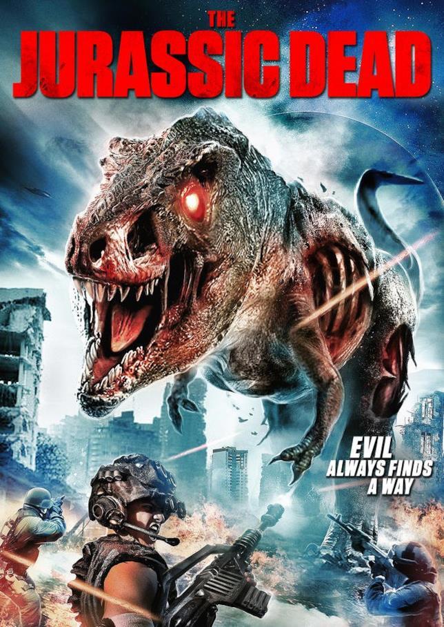 Il T-Rex zombie contro i militari nel poster di Jurassic Dead