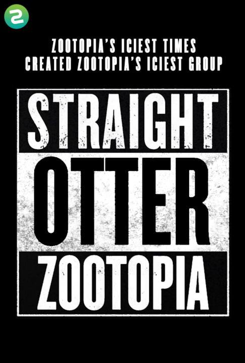 Il poster di Straight Outta Compton nel mondo di Zootropolis