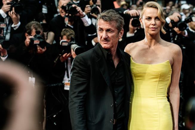 Primo piano di Sean Penn e Charlize Theron a Cannes 2015