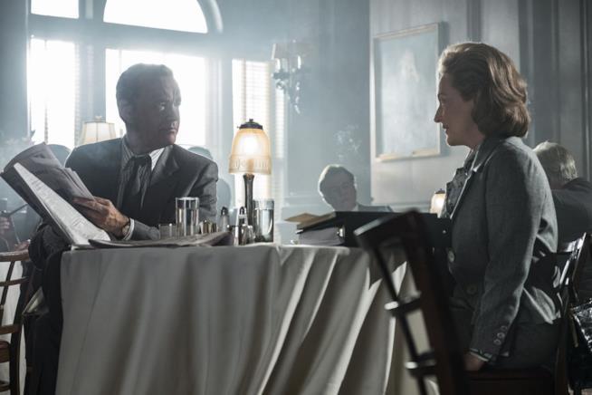 Meryl Streep e Tom Hanks in The Post