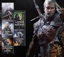 Geralt di Rivia e tutti i libri della saga di The Witcher