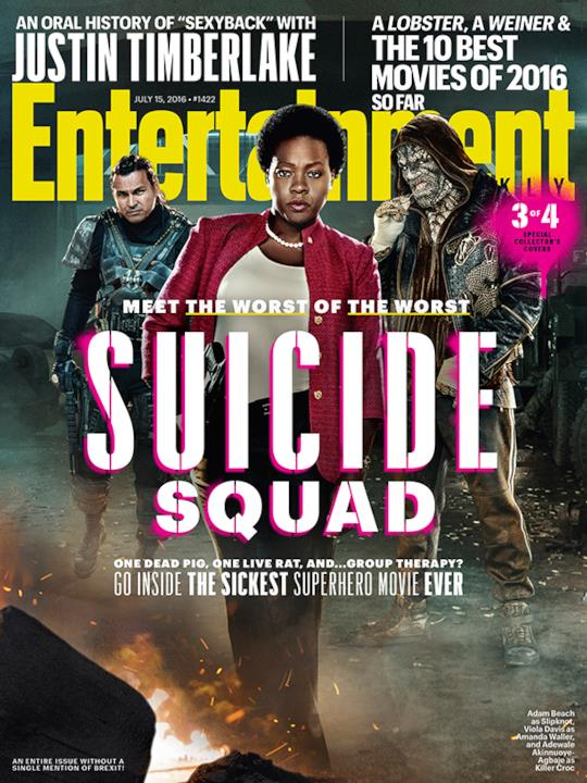 La cover 3/4 di Entertainment Weekly dedicata a Suicide Squad
