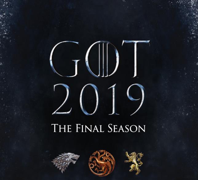 Il poster di GoT 8 con la data di messa in onda e i sigilli di Stark, Targaryen e Lannister