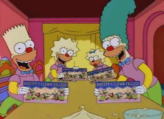 Homer immagina la sua famiglia come clown