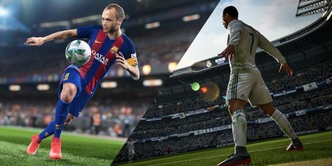 FIFA 18 e PES 2018 a confronto
